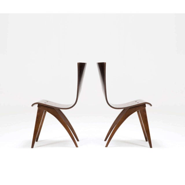 Chairs Latest Collection Of Vintage Van Os Bent Plywood Walnut Dining Chairs Set Of 8