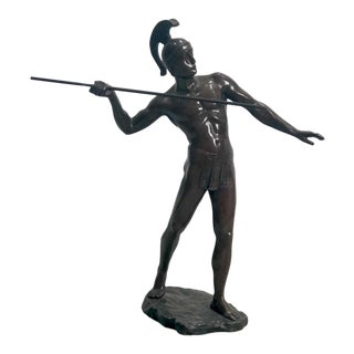 """Ancient Warrior"" Bronze by Schmidt Felling, Germany Circa 1900 For Sale"