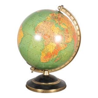 Mid-Century Illuminated Glass Globe C.1960 For Sale