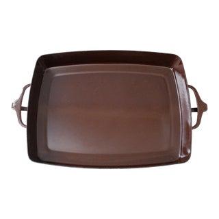 Dansk Kobenstyle Enamel Baking Pan Brown Jens Quistgaard Danish Modern