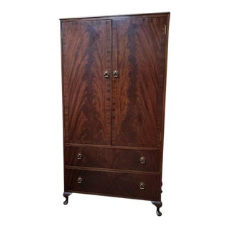 Vintage Flame Mahogany Tallboy C.1940s For Sale