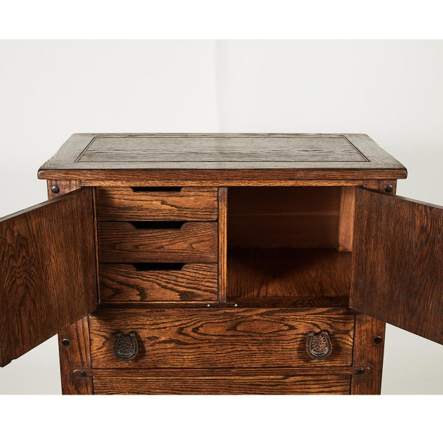 Americana Horse Motif Cabinet For Sale - Image 3 of 9