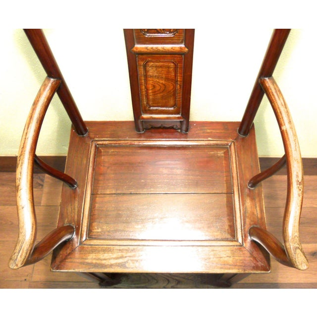 Antique Chinese Ming Arm Chair For Sale - Image 5 of 9