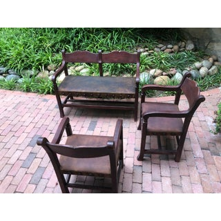 21st Century Hacienda Bench and Chairs- 3 Pieces Preview