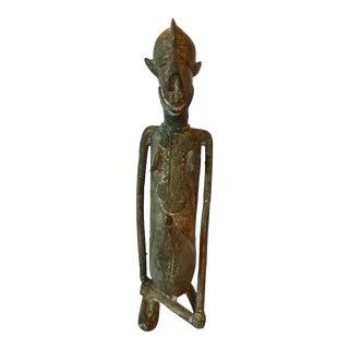 Vintage Dogon Bronze Nommo For Sale