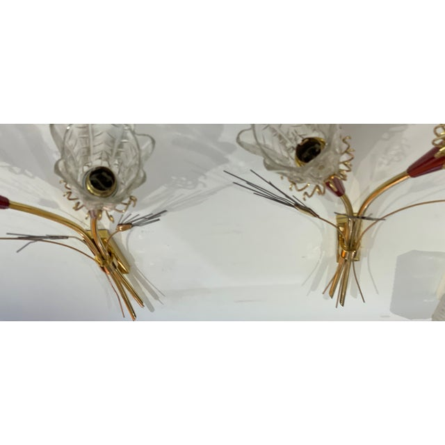 Gold Mid-Century Modern Maison Arlus Sconces - a Pair For Sale - Image 8 of 13