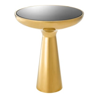 Eichholtz Lindos Low Gold Tower Side Table For Sale