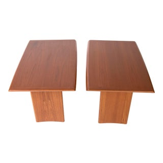 Mid Century Teak Side Tables by Henning Kjaernulf For Sale