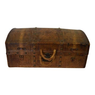 Antique Travel Dome Trunk For Sale