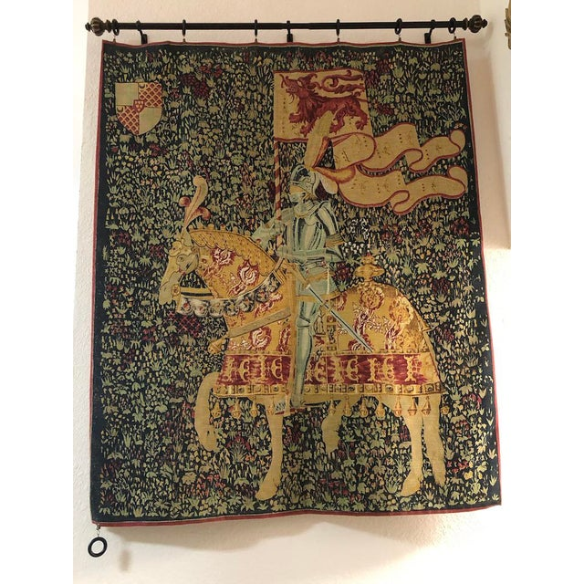 Dark Green 1960s French Style Tapestry For Sale - Image 8 of 8