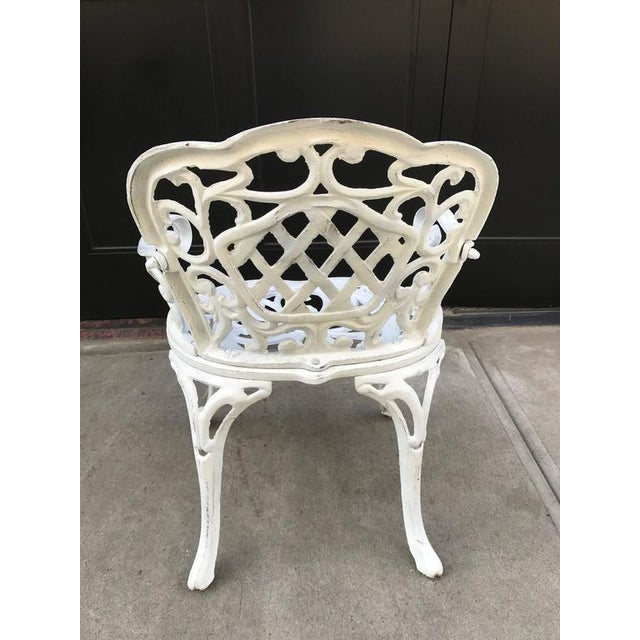 Set of Four Early Cast Iron Garden Chairs For Sale - Image 4 of 5