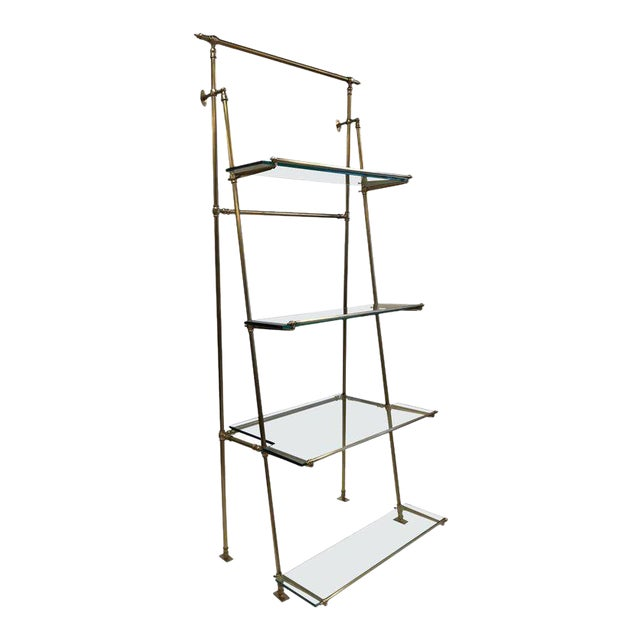 1950s French Bronze Wall Mounted and Freestanding Etagere For Sale