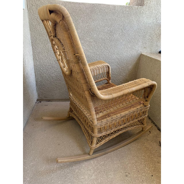 Ralph Lauren Wicker Rattan Rocking Chairs - Pair For Sale In San Diego - Image 6 of 10