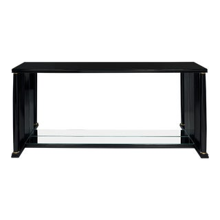 Empire Style Vintage Mirrored Console Table For Sale