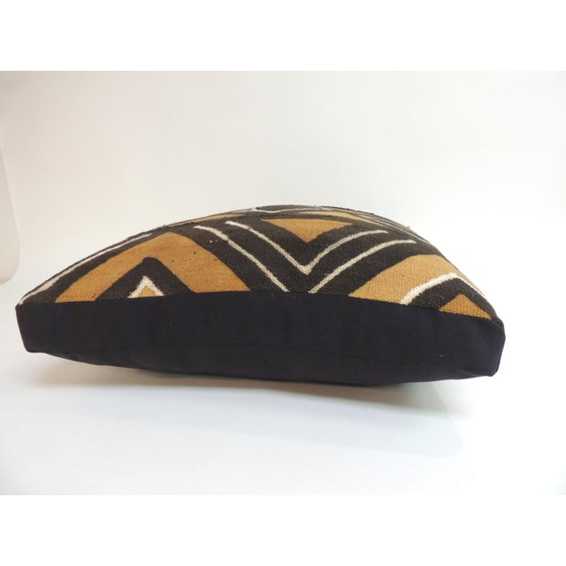 Vintage graphic African artisanal textile mud cloth decorative pillow Square box-style decorative pillows handcrafted with...
