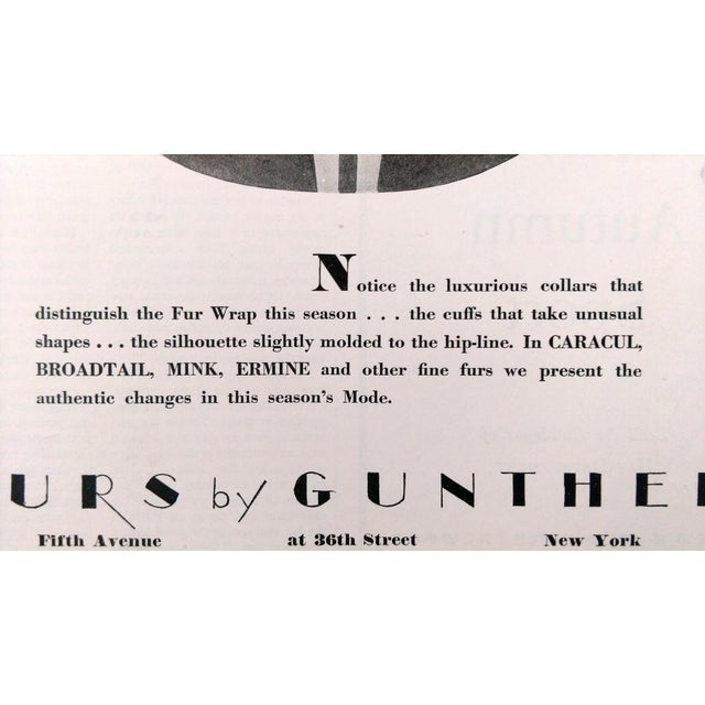 "1928 ""Furs by Gunther"" Advertisments - Pair - Image 7 of 10"