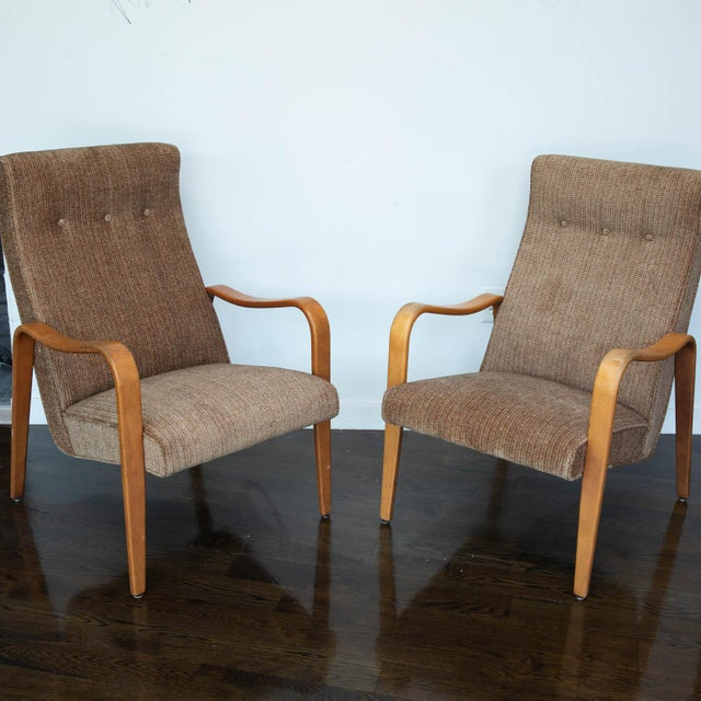 Mid-Century Modern Pair of Thonet Bentwood Armchairs For Sale - Image 3 of 12