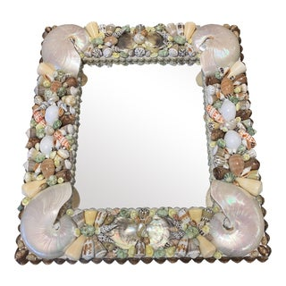 Vintage Palm Beach Shell Mirror For Sale
