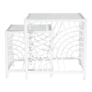 Swirl Nesting Tables - White For Sale