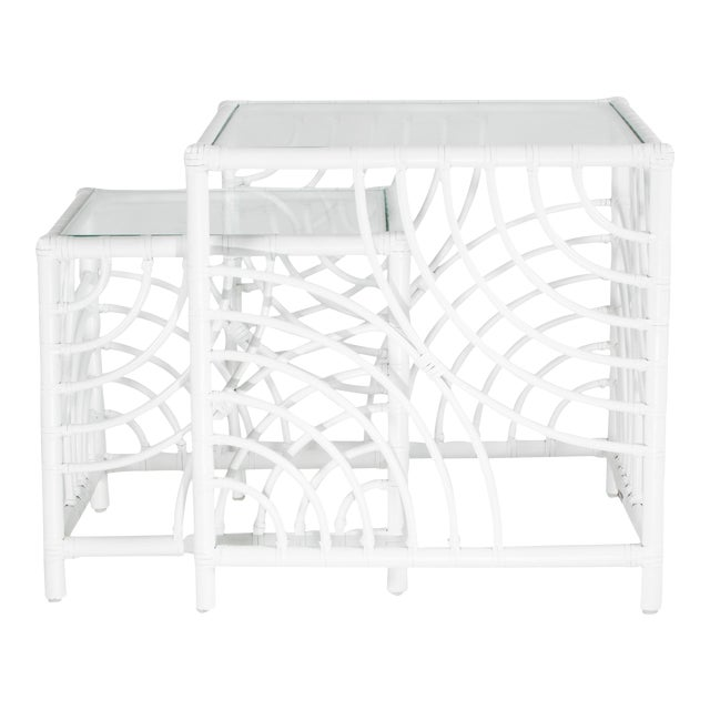 Swirl Nesting Tables - White For Sale