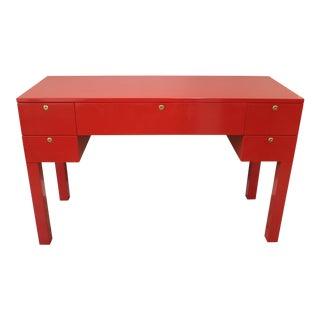 Midcentury Restored Red Desk, C. 1960's