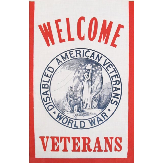 "Disabled American Veterans Furniture Pick Up: WW1 American Political ""Welcome Disabled Veterans"" Flag"