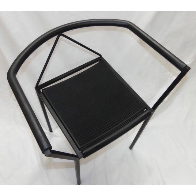 Metal Maurizio Peregalli Poltroncina Armchairs Made in Italy by Zeus - Set of 6 For Sale - Image 7 of 11