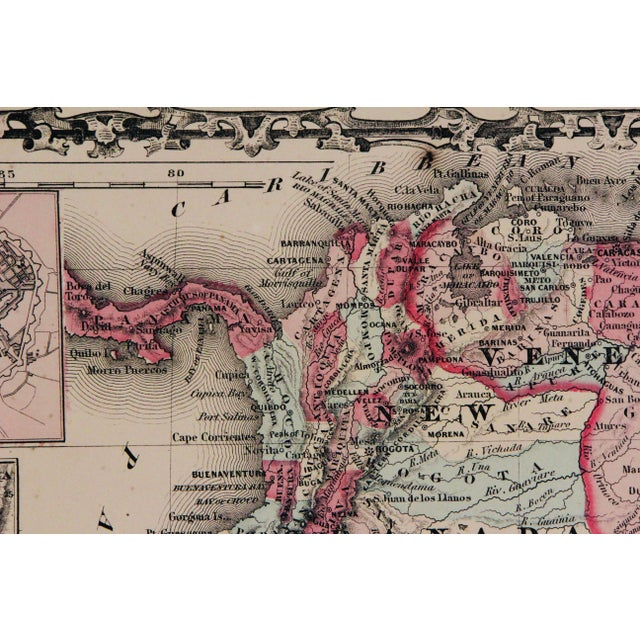Vintage South America Map For Sale - Image 9 of 10