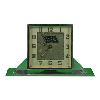 1930s Vintage M.T.G. Yachting Art Deco Alarm Swivel Clock For Sale