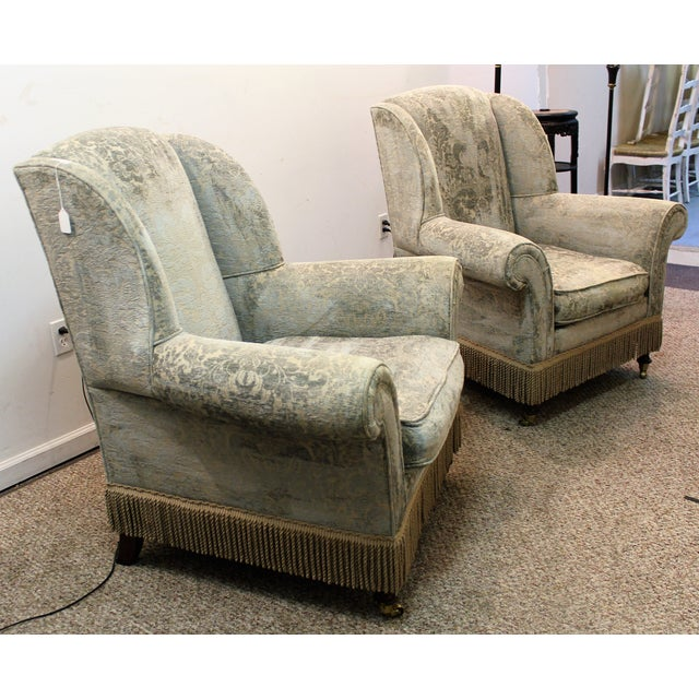 Traditional Drexel Heritage Lillian August Club Chairs - Pair For Sale - Image 3 of 11
