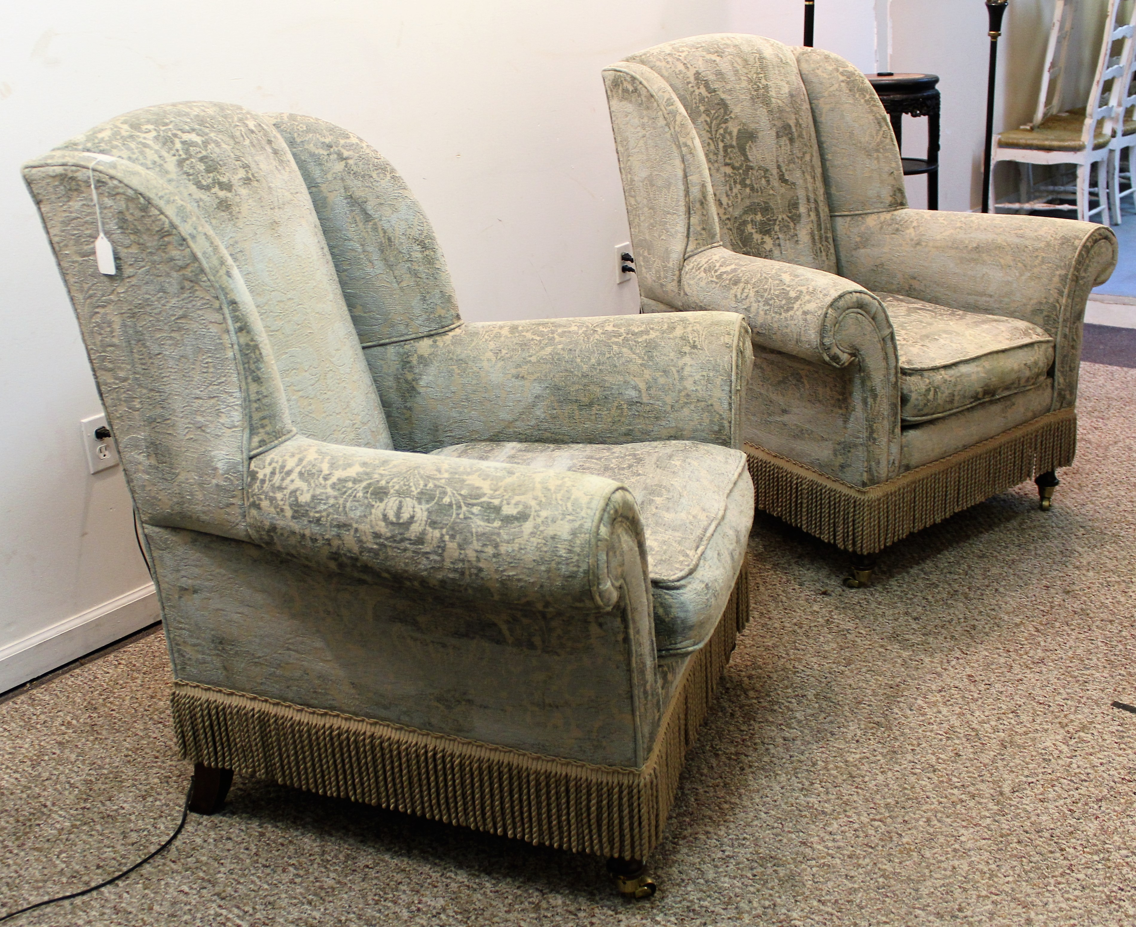 Drexel Heritage Lillian August Club Chairs   Pair   Image 3 Of 11