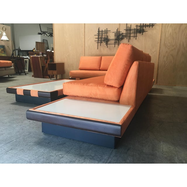 20th Century Adrian Persall Style Sofa Sectional and Coffee Table - 3 Pieces For Sale - Image 10 of 13