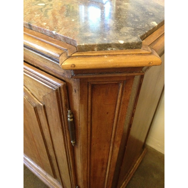 Vintage Walnut Buffet With Marble Top - Image 6 of 6