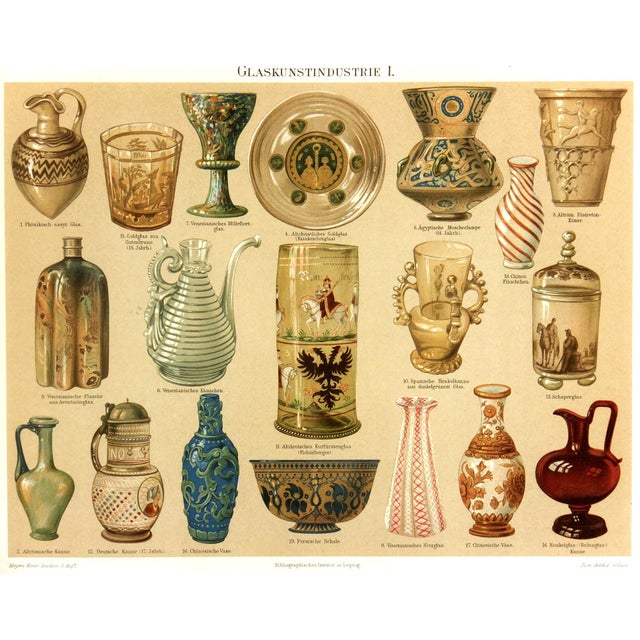 Antique Lithograph, Glassworks 1894 - Image 1 of 3