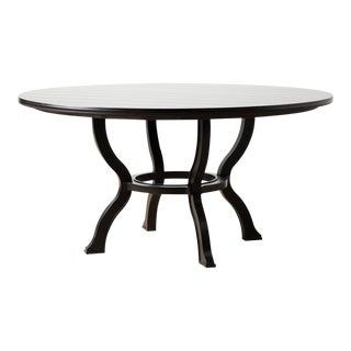 Contemporary Anderson Black Wood Dining Table For Sale
