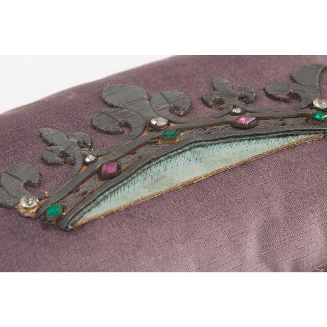 B. Viz Design Antique Textile Pillow For Sale In Baton Rouge - Image 6 of 8