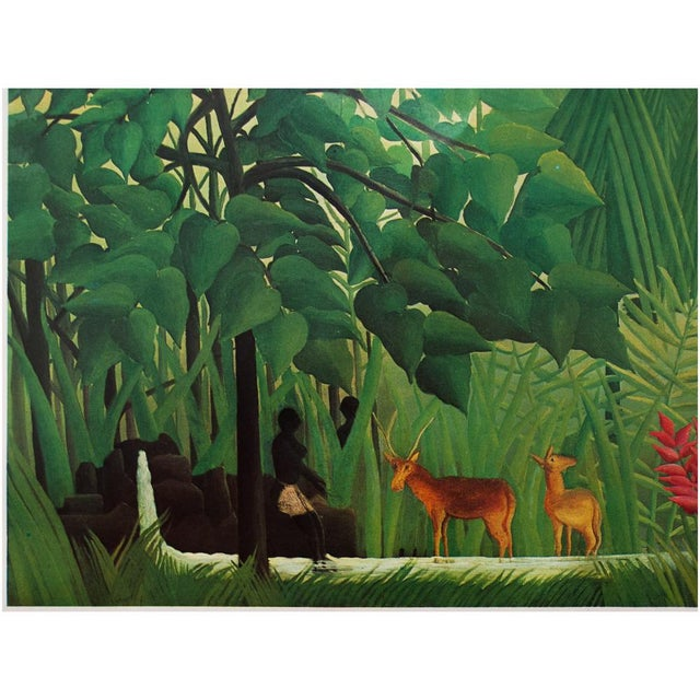 """Expressionism 1966 Henri Rousseau, """"The Waterfall"""" Photogravure From Milan For Sale - Image 3 of 11"""