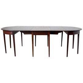 Image of Wood Demi-lune Tables