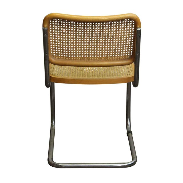 1960s Vintage Cane Wood & Chrome Cesca Style Chair For Sale - Image 5 of 5