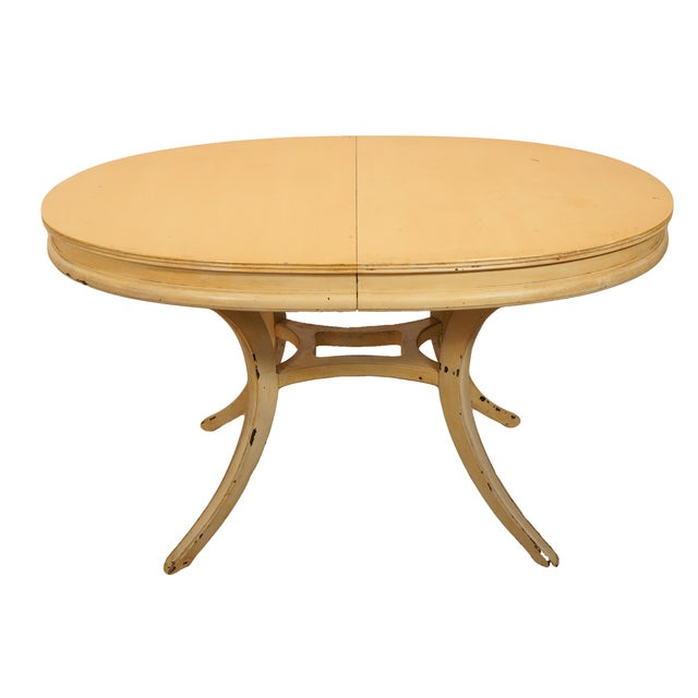 Oval Yellow Kitchen Table - Image 1 of 6