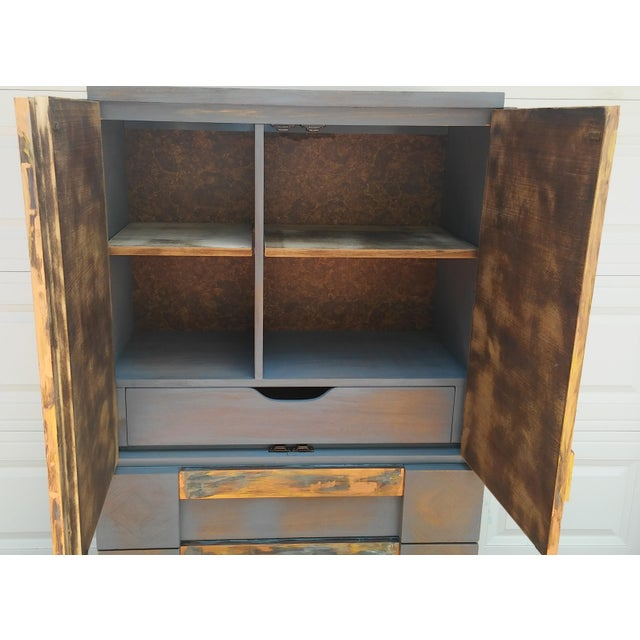 Lane  brutalist Mid-Century Modern Lane Brutalist Tall Dresser For Sale - Image 4 of 10