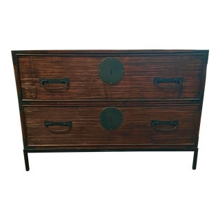 Henredon Asian Modern Bamboo Style Katana Chest For Sale