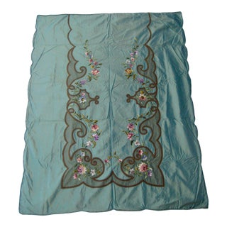 Late 19th Century Embroidered Cover Bed, Wall Hanging or Drape For Sale