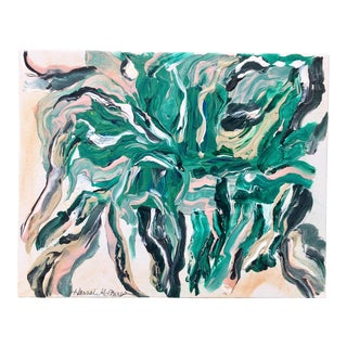 """""""Marbled Thoughts"""" Hannah McPherson Abstract Painting Print For Sale"""
