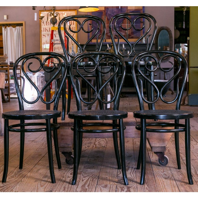Bentwood Set of Five Bentwood Bistro Chair For Sale - Image 7 of 7