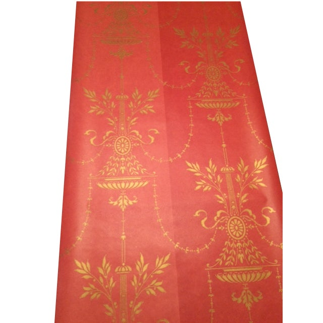 Cole & Son Dorset 2-Toned Red Wallpaper - 10 Rolls - Image 1 of 8