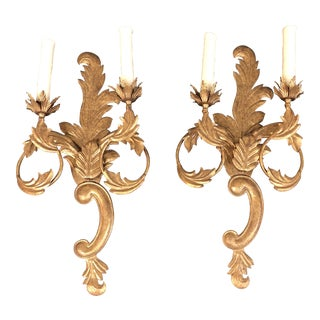 Baroque Minton-Spidell + Luminaire Two-Light Wall Sconces - a Pair