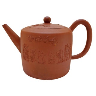 Large Redware Teapot For Sale