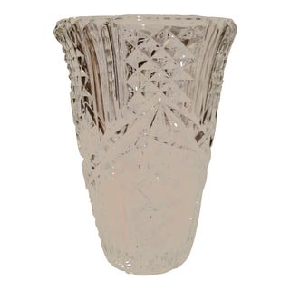 1980s Vintage Crystal Vase For Sale