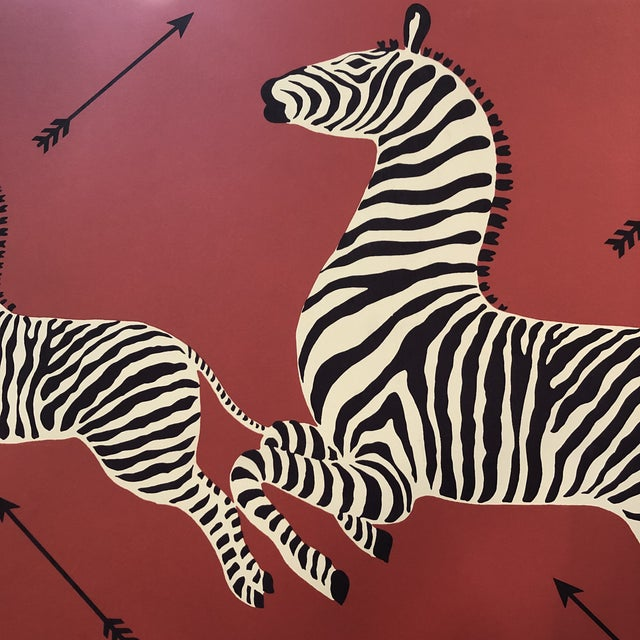 Wall Mounted Scalamandre Zebra Wallpaper Panels - a Pair For Sale - Image 11 of 13